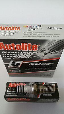 Pack Of 4 Autolite APP104 Spark Plugs Double Platinum