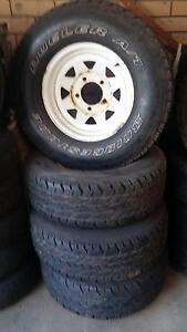 Toyota Land Cruiser 16' Steel wheels with Tyres. Two sets Pinjarra Murray Area Preview