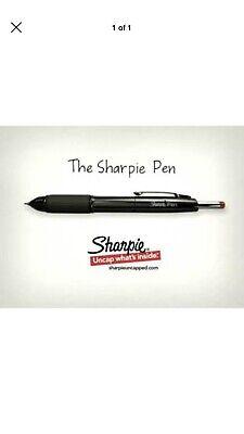 Sharpie Stylo Permanent Marker Pen Retractable Nib Red