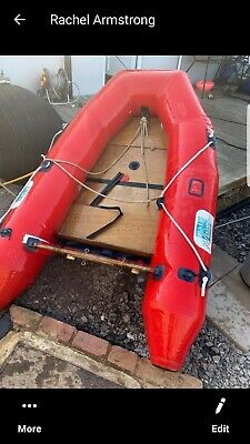7ft inflatable dinghy row boat .tender.