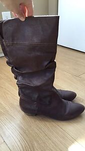 Nine West Boots size 11 brown
