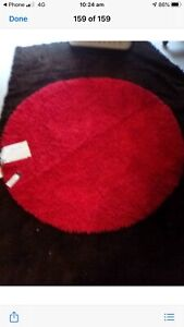 Rug new red 150 by 150