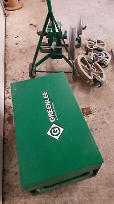 Greenlee 1818 Mechanical Bender 12-2 Emt Imc Rigid 5 Shoes Storage Box 13