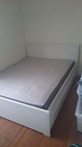 Ikea Queen bed and mattress Coogee Eastern Suburbs Preview