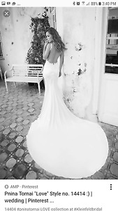 Pnina tornai sheath wedding dress