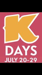 k days gate admission