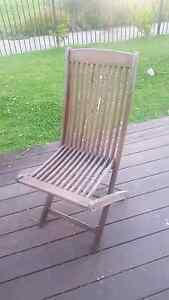 5 Solid wooden outdoor chairs Skye Frankston Area Preview
