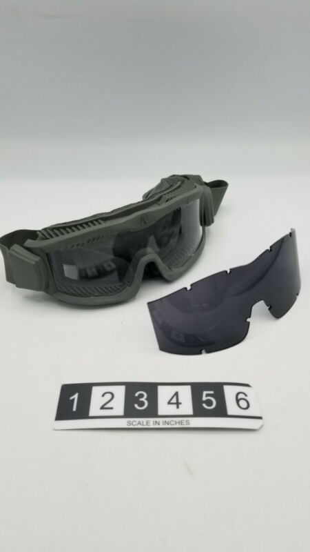 ARENA Flakjak Protective Goggle w/ Speed Sleeve, Clear & tinted Lenses Foliage