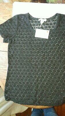 "Liz Hurley ""Capri"" Beach T shirt/cover up, Black, size Medium BNWT"