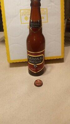 NATIONAL BOHEMIAN Beer 12 Oz Bottle Empty with original cap VINTAGE GLASS 1951?