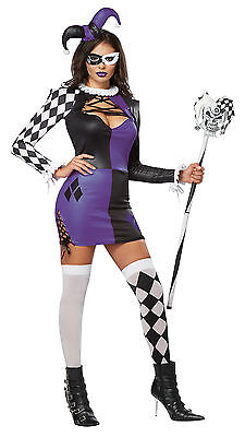 Naughty Jester Sexy Renaissance Clown Adult Costume