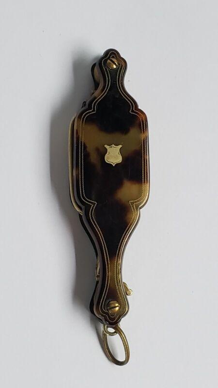 Antique Victorian Faux Tortoise Shell Folding Lorgnette Glasses