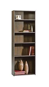 Sauder 5story Black/Brown Bookcase