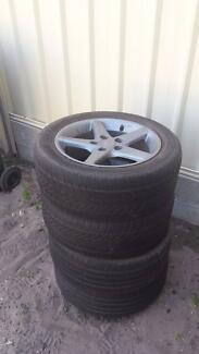 X4 Honda mag wheels with tyres North Haven Port Adelaide Area Preview