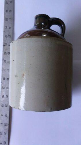 Antique Primitive Moonshine Jug Stoneware Brown Stone 2 Tone Whiskey Crock