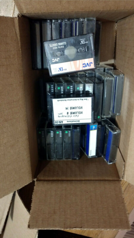 MINI-DV VIDEO TAPES LOT  (45)  used Panasonic, Head Cleaner included