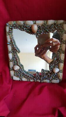 RARE Vintage Tasmanian Aboriginal Maireener Shell Mirror (& Necklace Listing)