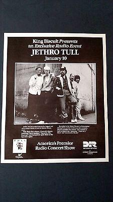 JETHRO TULL, AMERICA'S  RADIO CONCERT SHOW RARE ORIGINAL PRINT PROMO POSTER AD
