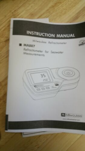 Milwaukee MA887-BOX Digital Refractometer for Seawater Measurements+Solution