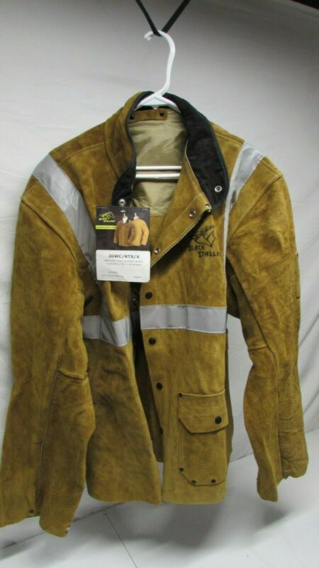 Black Stallion Leather Welding Jacket 3XL