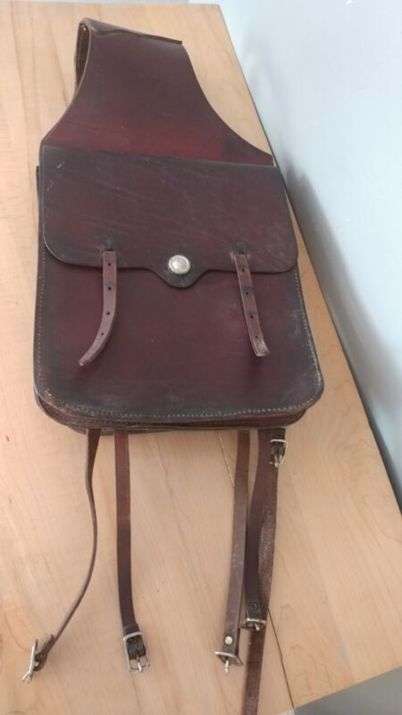 Vintage Leather 12 × 14 Leather Saddle Bags