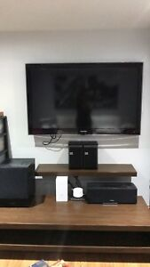 Tv stand and wall shelf