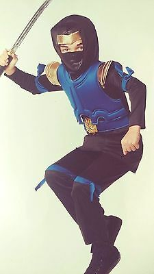 Blue Imperial Ninja Child Costume - Size large ~ 12-14 YRs](Blue Ninja)