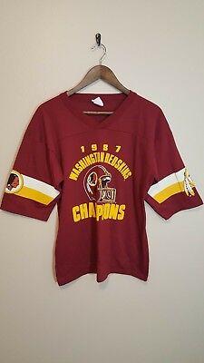 246a8f625 Vintage 1987 Washington Redskins Super Bowl Champion Shirt! Jersey! Large!