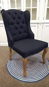 Black wingback dining chairs PerFurEmp Midland Swan Area Preview