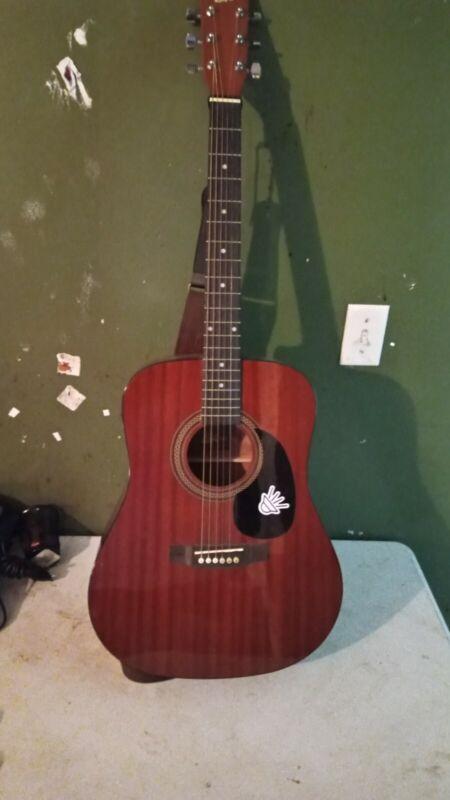 Rogue RA-090 Dreadnought Acoustic Guitar Mahogany USED