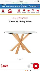 Waverley Dining Table Fantastic Furniture Glass Round Dining Table
