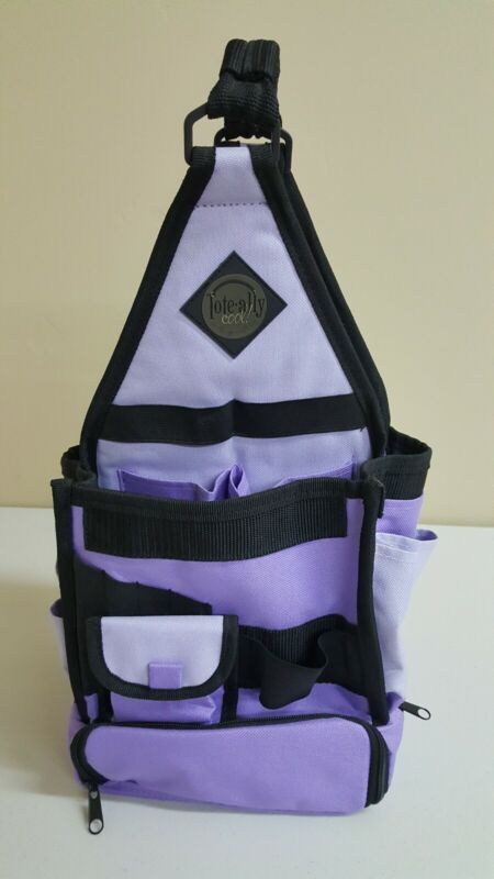 AMMs The Original Tote-Ally Cool! On-the-Go Scrapbook Canvas Craft Purple Bag