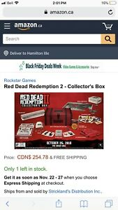 Red dead redemption 2 collectors box 170.00