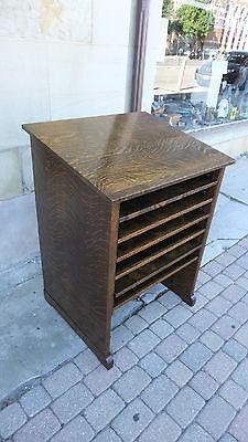 Wine Rack/ Bar-Antique Library Cabinet-Quarter Sawn Oak-Arts Crafts Mission-Deco for sale  Cleveland