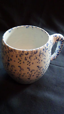Bybee Pottery Blue Speckled Large Tankard 1970s