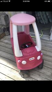 Pink ride in car