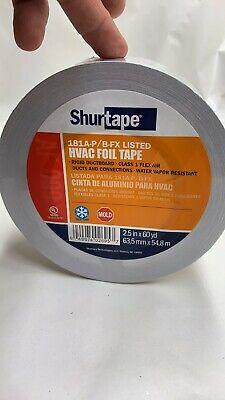 2 Rolls Shurtape Af-099 Aluminum Hvac Foil Tape 2.5 X 60 Yd Flex Air Duct New