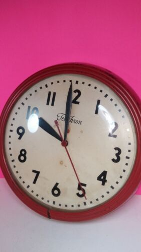 Vintage Telechron Large Industrial School Wall Clock