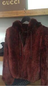Mink shaved Fur Bomber Jacket New / Hood / Vente Rapide !