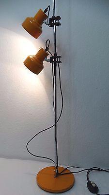 Lampe Tischlampe Orange Mit Glaskugel Globus 70er