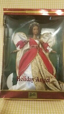 Barbie Mattel 2000 Angel Holiday Barbie Doll African American Red Dress NRFB