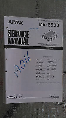 Factory Car Stereo Repair (aiwa ma-8500 Service Manual Original Factory Repair book car stereo power)