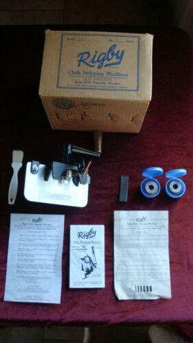 Rigby Model H Cloth Stripping Machine w 3 Wheel Heads (2 #3 Heads, 1 #4 Head)