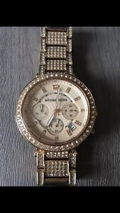 Authentic Michael Kors Parker Pavé Rose Gold-Tone watch
