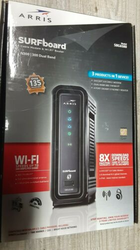 Brand New Sealed ARRIS N300 SBG6580 DUAL BAND DOCSIS 3.0 Cable Modem 4-Port Giga