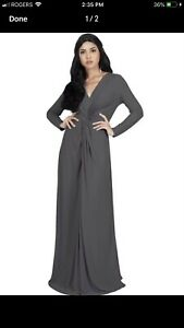 KOH KOH FORMAL GREY DRESS