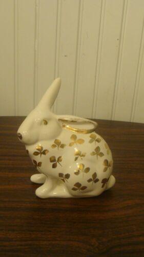 Vintage Ceramic/Porcelain Rabbit/Bunny with Gold Leaves Figurine