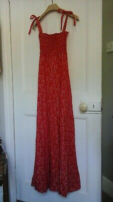 Laura ashley made in wales red floral vintage dress Uk10