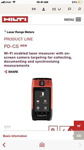 New Hilti pdc power range meter for sale