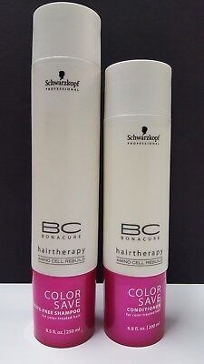 Schwarzkopf Bc Color Save (BC Bonacure Color Save Hairtherapy Duo Pack by Schwarzkopf - 8.5 & 6.8 fl oz)